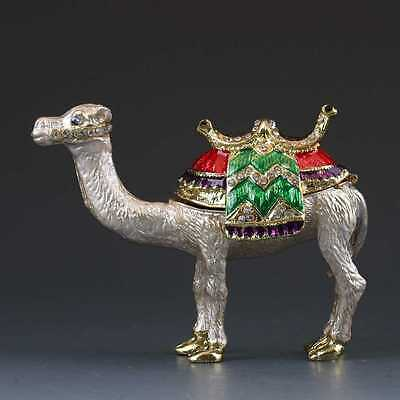 Chinese Collectable Cloisonne Inlaid Rhinestone Handwork camel Statue G375