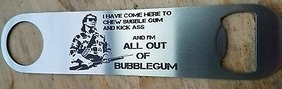 They live all out of bubble gum stainless steel bottle opener/church key