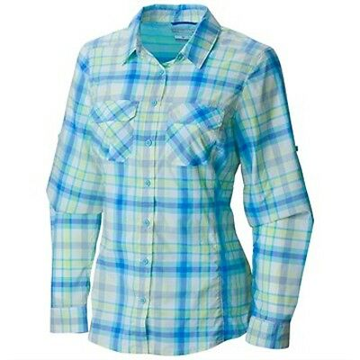 NEW Columbia Women's Saturday Trail Plaid Long Sleeve Shirt Size XS $65 Retail