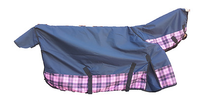 1200D 300g Fill Winter Horse Combo Rugs Pink / Blue Check