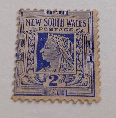 NEW SOUTH WALES 2d Queen Victoria Stamp USED