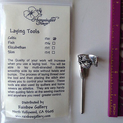 Hummingbird House Celtic trolley needle laying tool pewter rainbow gallery