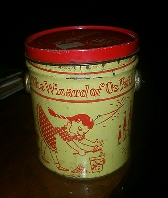 Vintage Swift's Oz Peanut Butter Tin Can Wizard Of Oz Pail