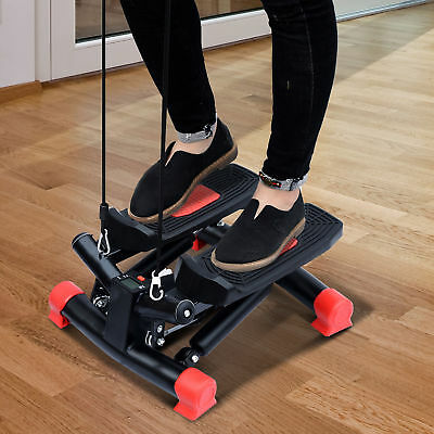 HOMCOM Mini Stepper Home Fitness Leg Arm Cord Training Gym Exercise Machine
