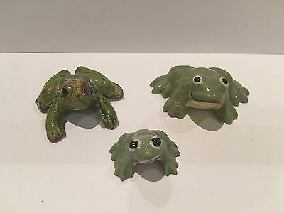 Vintage Frog Ceramic Miniatures from the 1980's
