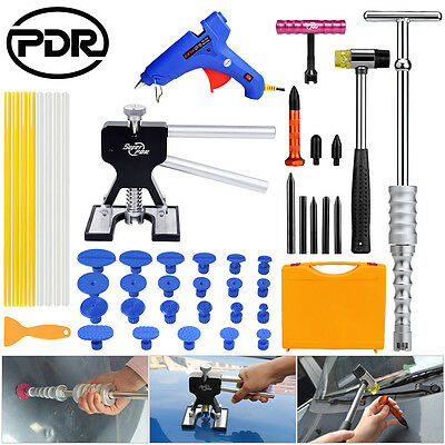PDR 46x Paintless Dent Repair Removal Tools Dent Lifter Silver T Bar Tap Down