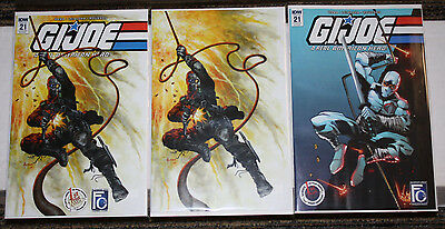 GI Joe RAH #21 1st Print Comics / FC3 Exclusive SET of All Three Variants  Jusko