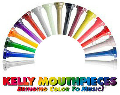 Kelly Lexan Plastic Trumpet Mouthpiece - Available in 8 Colours & 4 Sizes