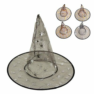 New Children Kids Witches Witch Halloween Hat Fancy Dress Costume Accessory Prop