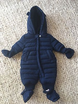 Pumpkin Patch Size NB Baby Snowsuit Bearsuit Winter Warm Mittens Booties