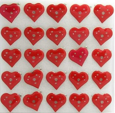 New Lot Heart-shaped  LED Flashing Light Up Badge/Brooch Pins Christmas Party