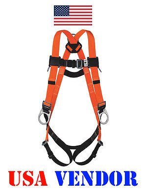 Full Body Safety Harness D-Ring USA Brand New