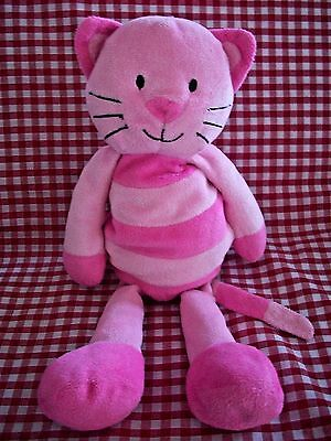 MARKS AND SPENCER M&S PINK CAT KITTEN CARA COMFORTER SOFT CUDDLE TOY 36cms
