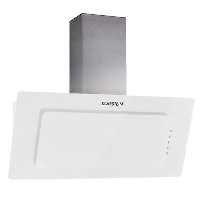 90 Cm Kitchen Chimney Cooker Hood Extractor Fan 280 M³/h Glass White *free P&p*