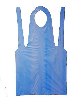 """900 DISPOSABLE Blue APRONS POLYETHYLENE 28"""" x 46"""" Knee Length by Shield Safety"""