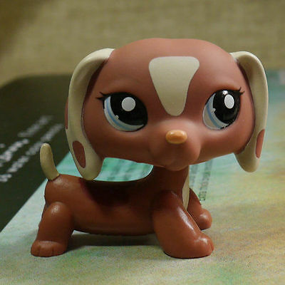 "LPS COLLECTION Figure Dachshund dog blue eyes TOY 2"" LPS038 LITTLEST PET SHOP"