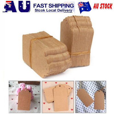 DIY Kraft Paper Blank Price Hang Tag Gift Packaging Labels Jewelry/Box/Cosmetics