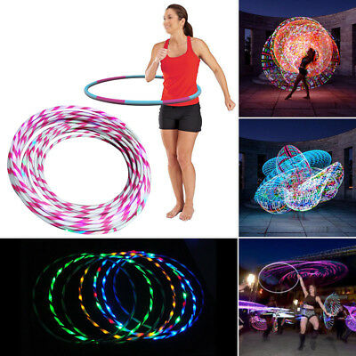 Colorful Light Flash LED Hula Hoop Fitness Sports Weighted GYM Workout Exercise