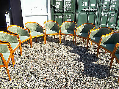 French Bedroom Parlour Tub Wooden Framed Dining Arm Chairs Pos Delivery