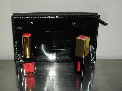 trousse yves saint laurent + gloss pure couture  n 5 + gloss  ysl baby doll 19