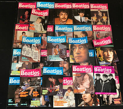Job Lot Of Beatles Monthly Magazines.