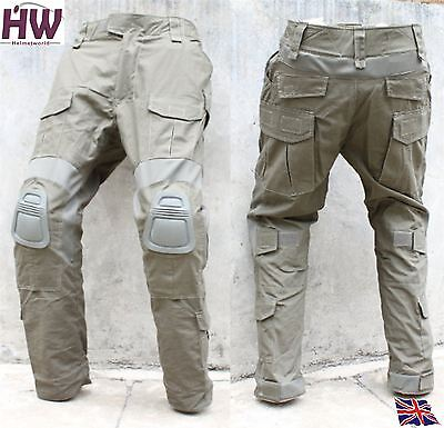 "Airsoft Gen 2 Pants Trousers Green Od Fg Rg Knee Pads Medium 32"" Crye Style"