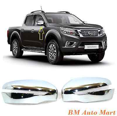 Chrome Wing Side Mirror covers for Nissan Navara NP300 2016