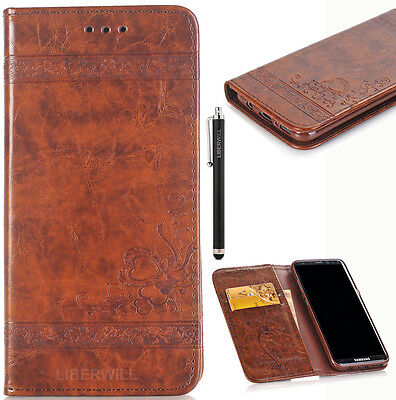 Luxury Leather Flip Card Wallet Phone Case Cover Stand for Samsung Galaxy S8