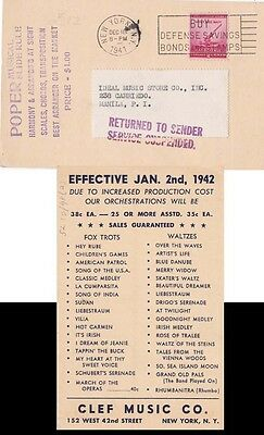 Phillipine Islands 1941  from USA No Service  RTS {See Below}