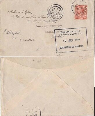 G.B 1920 Germany from Army Courier Office  to Scotland details see Below}