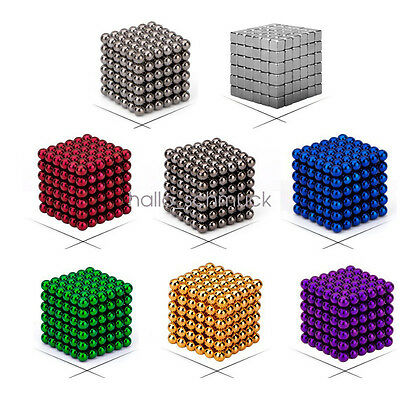 Neu Magnet Magnetic Magic Cube Sphere Neo Ball Toy 3D Puzzle Ball 216pcs 3/5mm