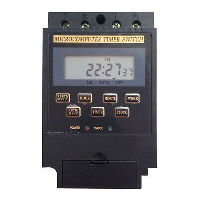 LCD Display Program/Programmable Microcomputer Timer Switch Controller