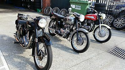 1951 B31 BSA Motorcycle, 1961 Tiger Triumph, 1960 Norton