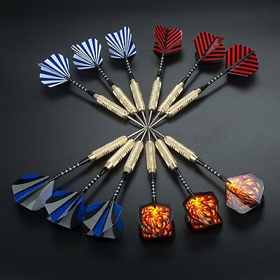 12 Dartpfeile 20g Steel Darts 15 Flights Dart Pfeile Komplettset Set Steeldarts