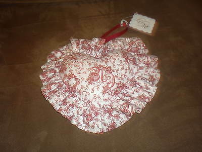 Longaberger Sweetheart Love Letters Heart Shaped Pillow Liner - Red