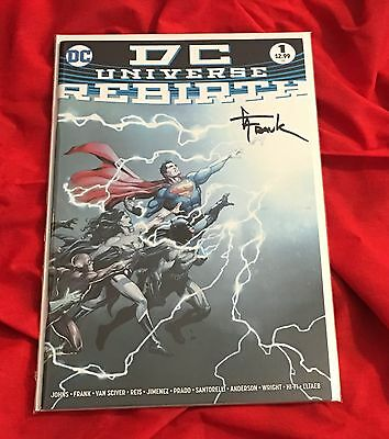 DC UNIVERSE REBIRTH SPECIAL #1~1st PRINT~HAND-SIGNED BY GARY FRANK~NYCC 2016~B