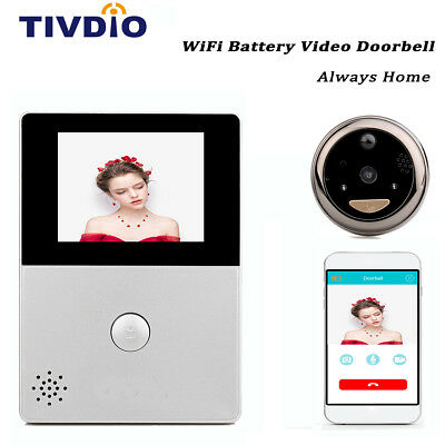 "WiFi 2.8"" OLED HD Screen Monitor Door Viewer Front Door Peephole Camera Doorbell"
