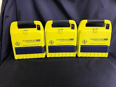 Cardiac Science Power Heart AED 9200RD-001 lot of 3 w/o battery