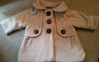 Next baby girls coat beige 3-6 months