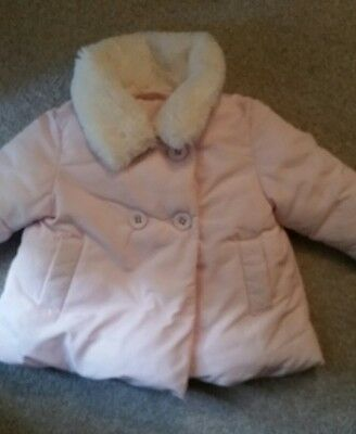 baby pink next coat girls 3-6 months