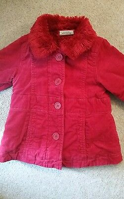 next baby girls coat 3-6 months red
