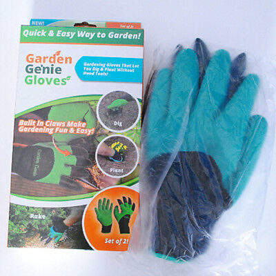 Plant Rose Garden Genie Fingertips Gloves Dig Pruning Right Hand Claw 1Pair