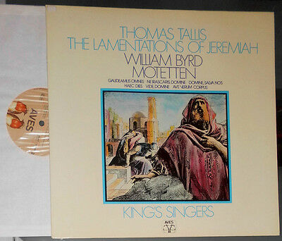 Thomas Tallis Lamentations Of Jeremiah William Byrd Motetten King's Singers Lp