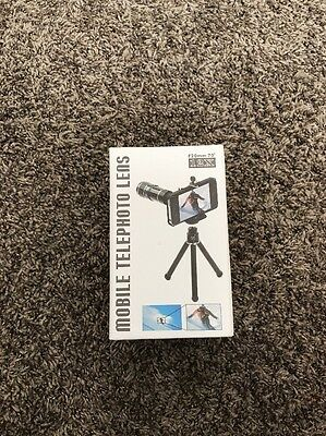 12x Zoom Mobile Telephoto Camera Lens Tripod Kit for iPhone 5 5S F20mm