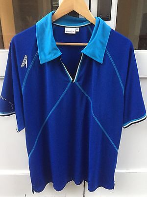 Speedo Men's Blue Polo Shirt Swimming Quick Dry Active XXL Like New