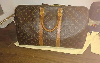 Louis Vuitton Authentic Keepall 45, Vintage LV Travel Bag Holdall Luggage Gym