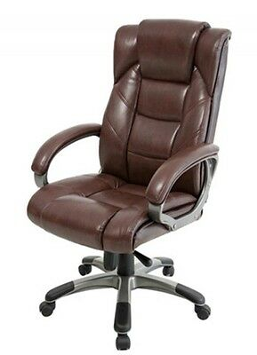 Alphason Northland Leather Office Executive Chair Brown