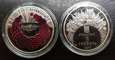 UKRAINE, 5 Hryven 2017 Coin UNC, Eurovision Song Contest in Kyiv