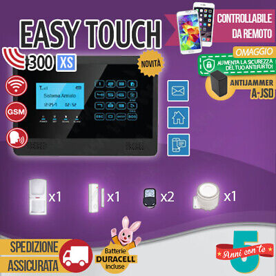 Kit Antifurto Casa Allarme Touch Screen Combinatore Gsm Wireless Easytouch300Xs