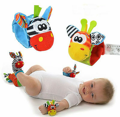 Baby Kids Sock And Wrist Rattles Cute Intellectual Developmental Toys Animal